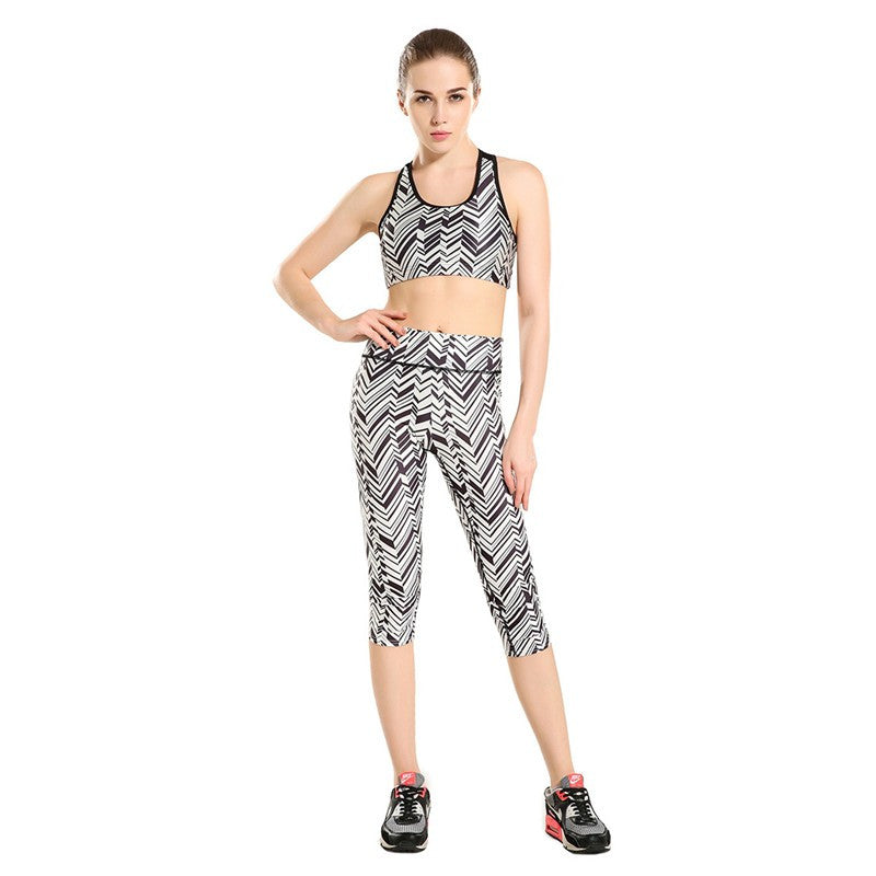 Electric Chevron - Capri Leggings - Legs11 Leggings