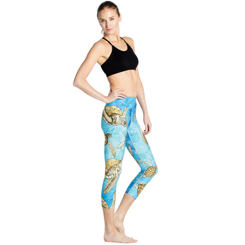 Turtle Time - Capri Leggings - Legs11 Leggings
