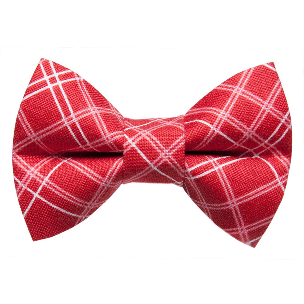 red plaid cat bow tie