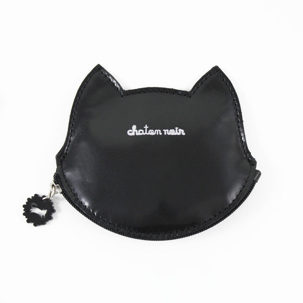 black cat change purse front