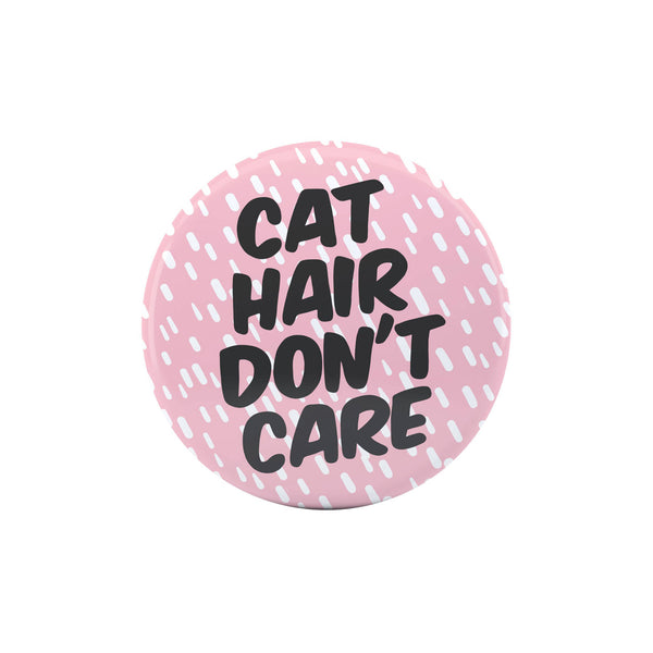 cat lover pink button pin