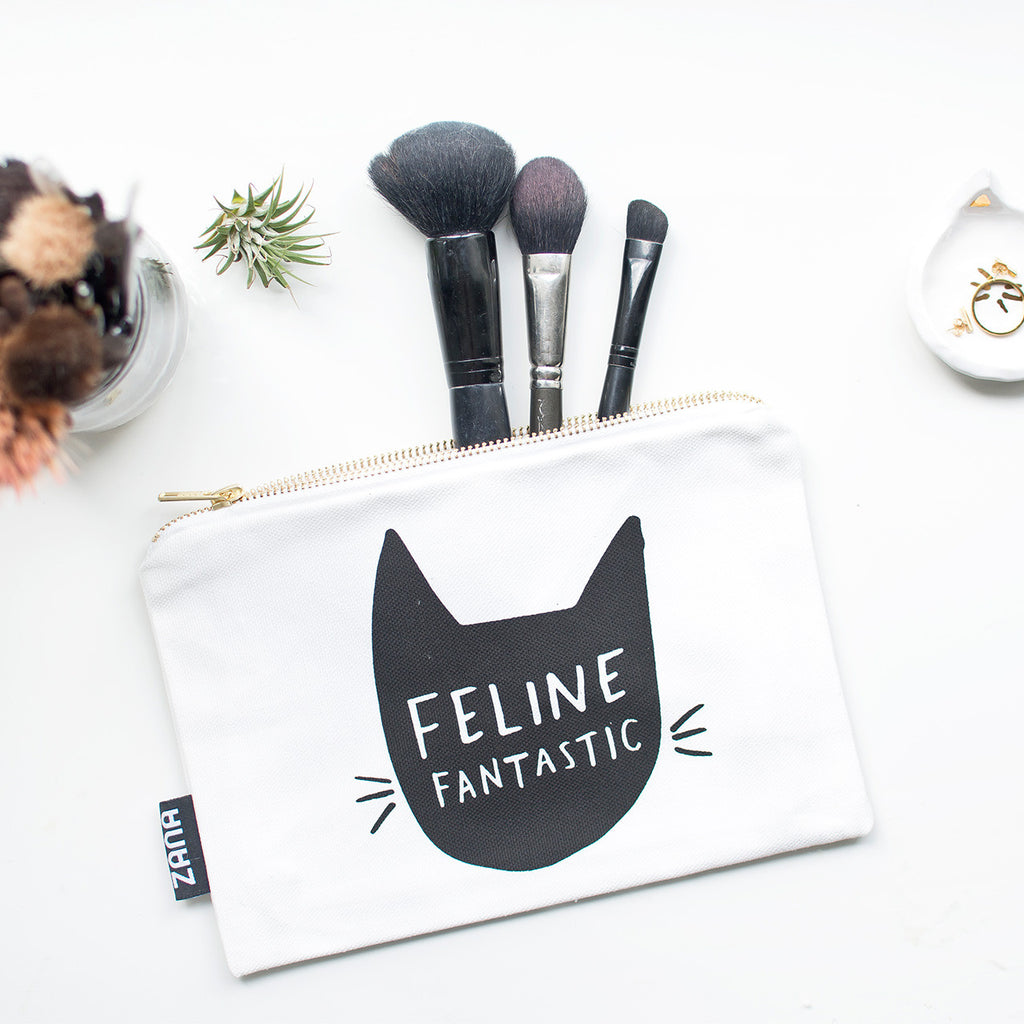 cat makeup pouch
