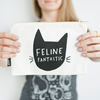 cat zippered pouch feline fantastic