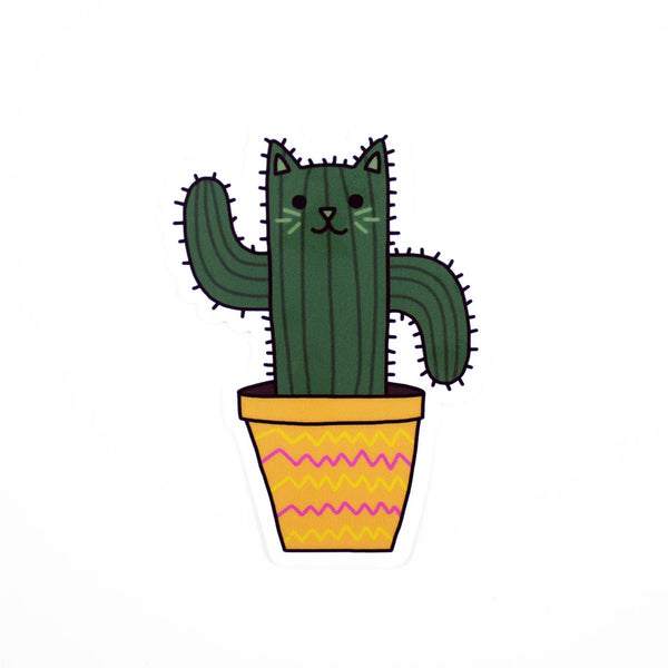 cactus cat vinyl sticker