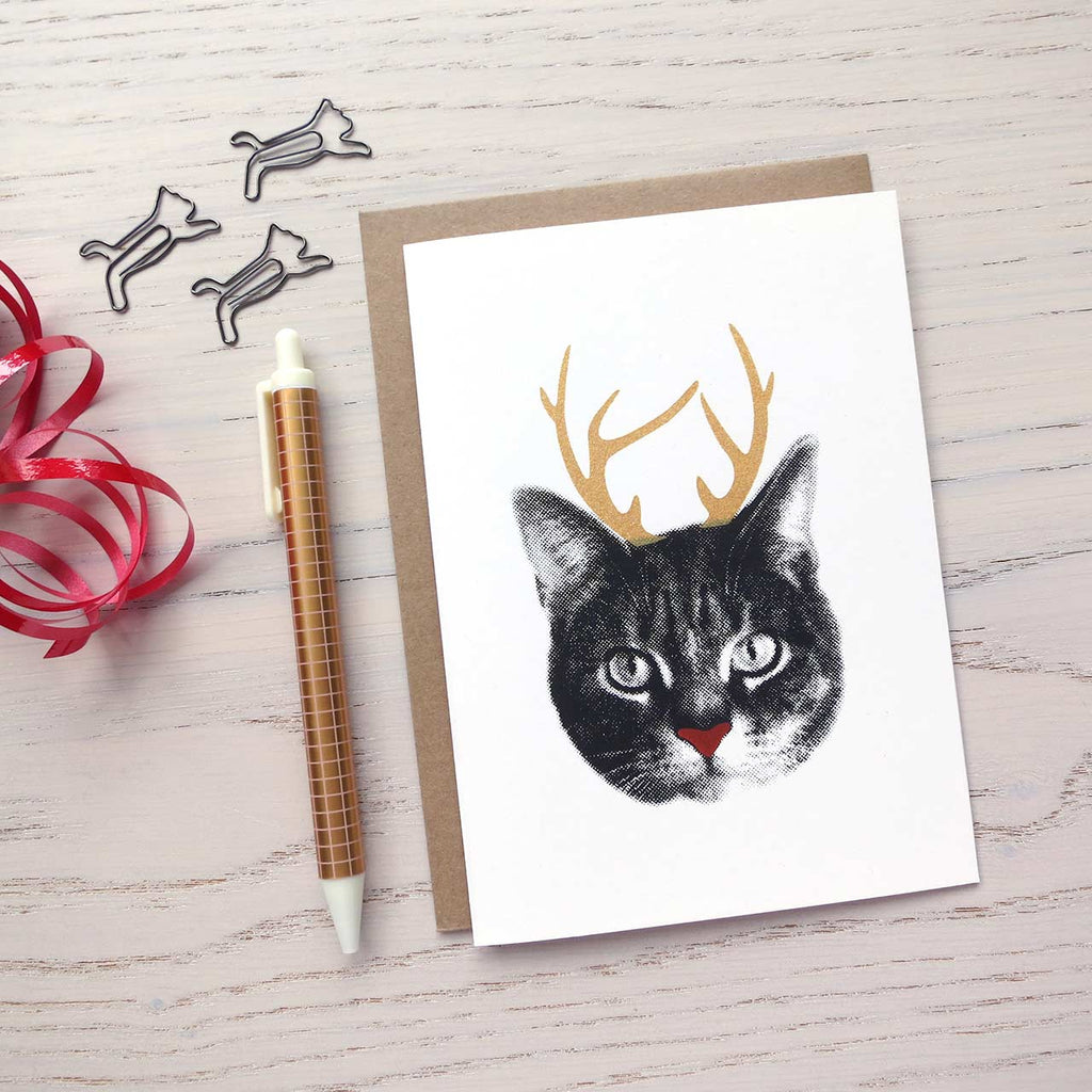 christmas card for cat lovers