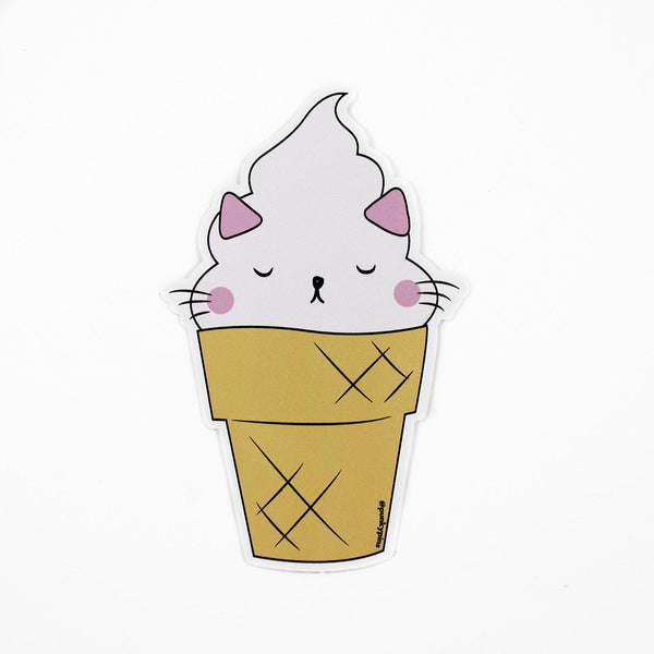 cat ice cream vinyl sticker