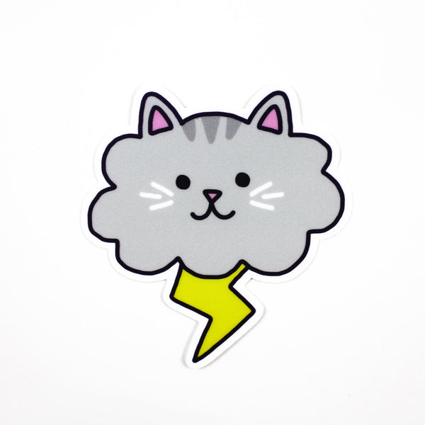 cloud storm cat vinyl sticker