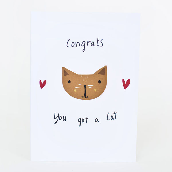 congrats you got a cat card