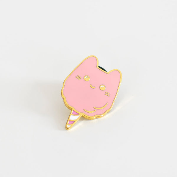 cotton candy cat enamel pin