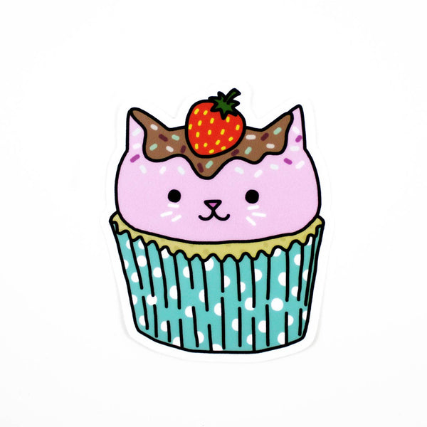 cupcake cat vinyl sticker