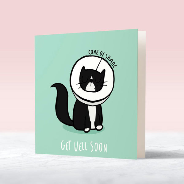 get well soon cat lover card