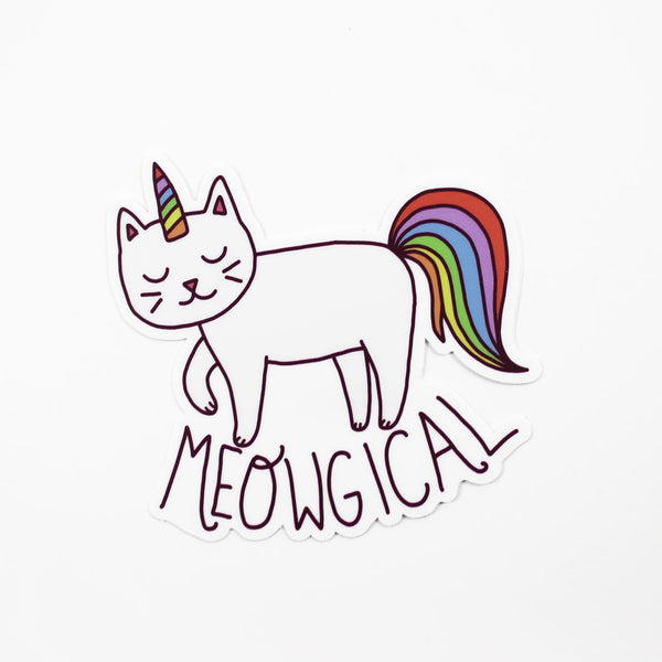 meowgical caticorn vinyl sticker