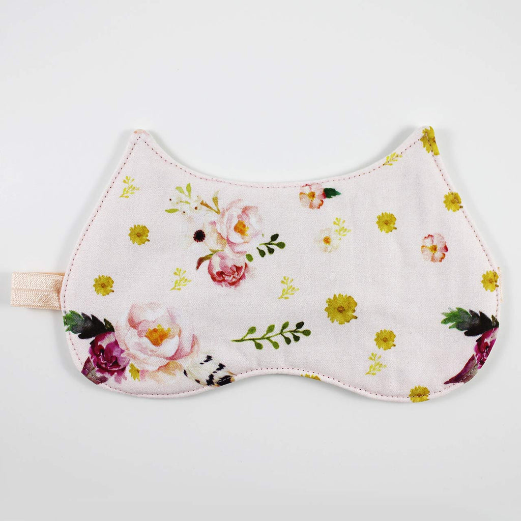 blush pink floral sleep mask