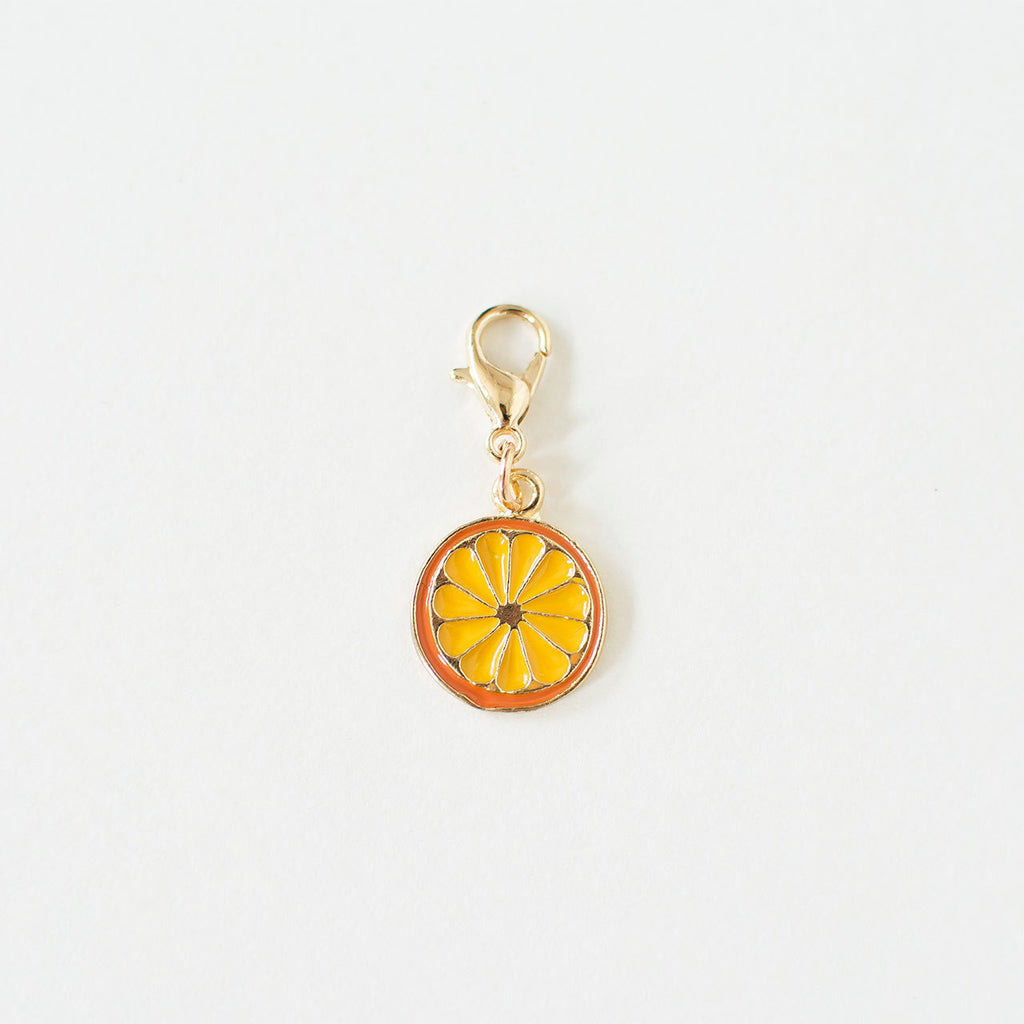 orange slice pet collar charm