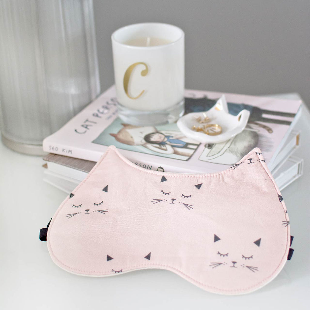 peach cat sleep mask