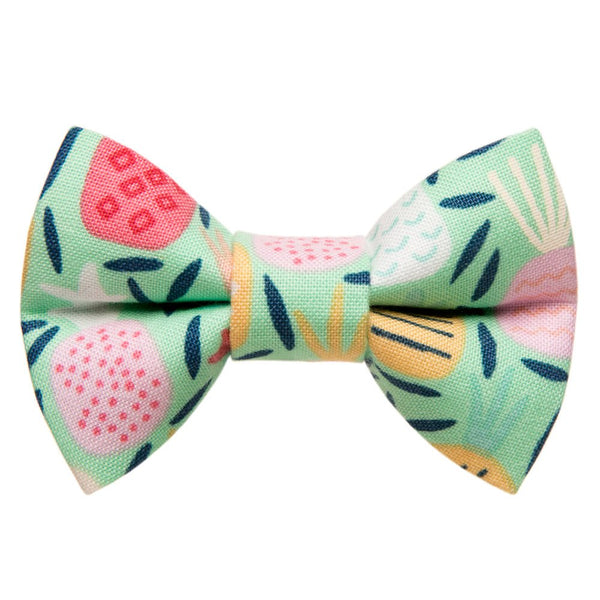 tropical print bow tie
