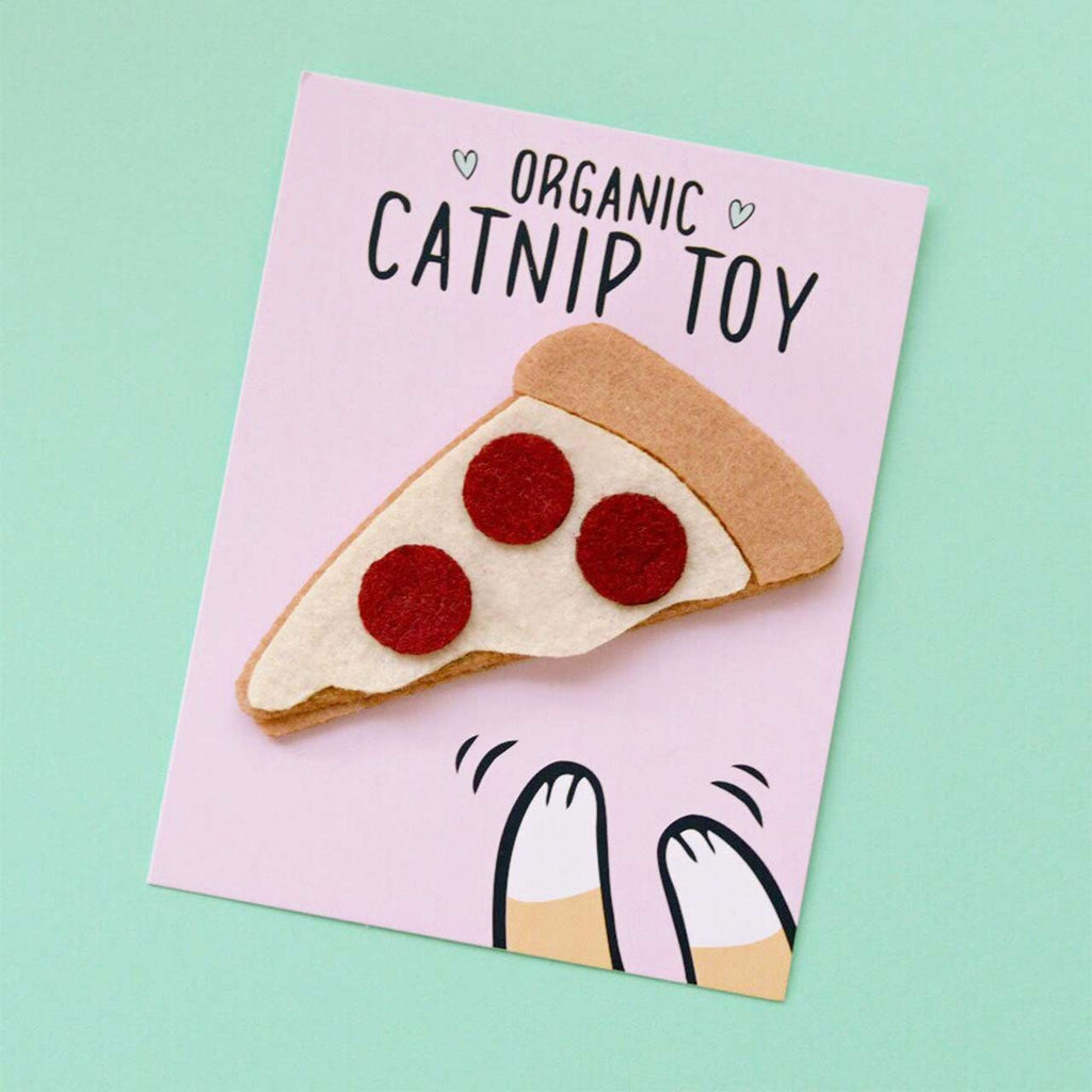 pizza organic catnip toy
