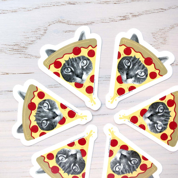 Pizza Cat Vinyl Sticker