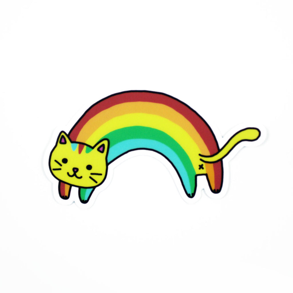 rainbow cat sticker