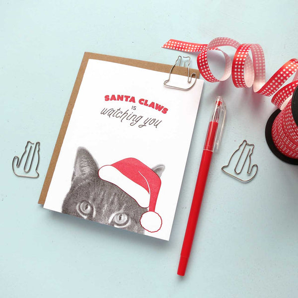 Santa Claws is watching you card