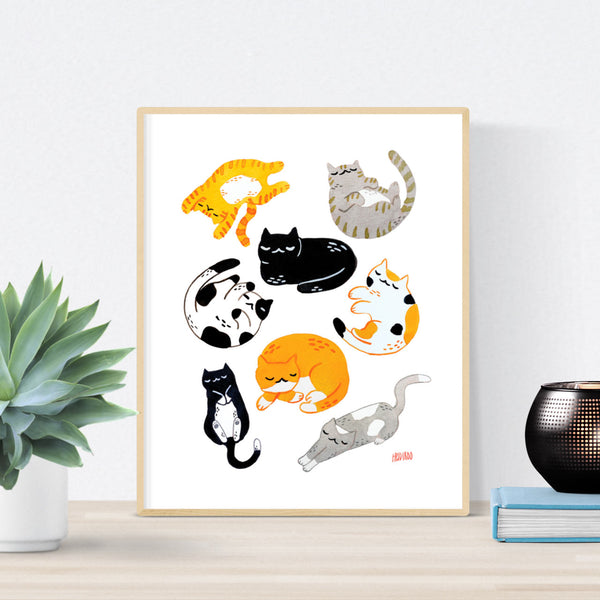 sleeping cats poster