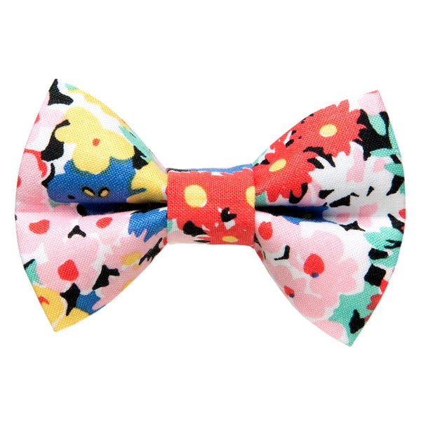 floral detachable cat bow tie