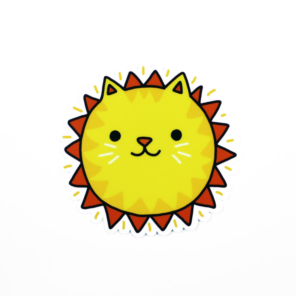 sunshine cat vinyl sticker