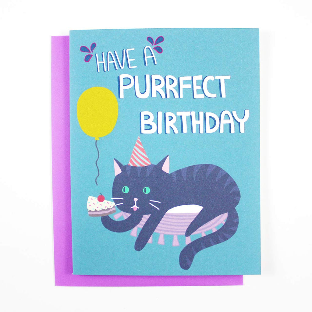 purrfect birthday cat lover card