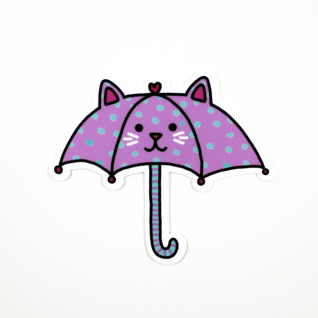 umbrella cat sticker