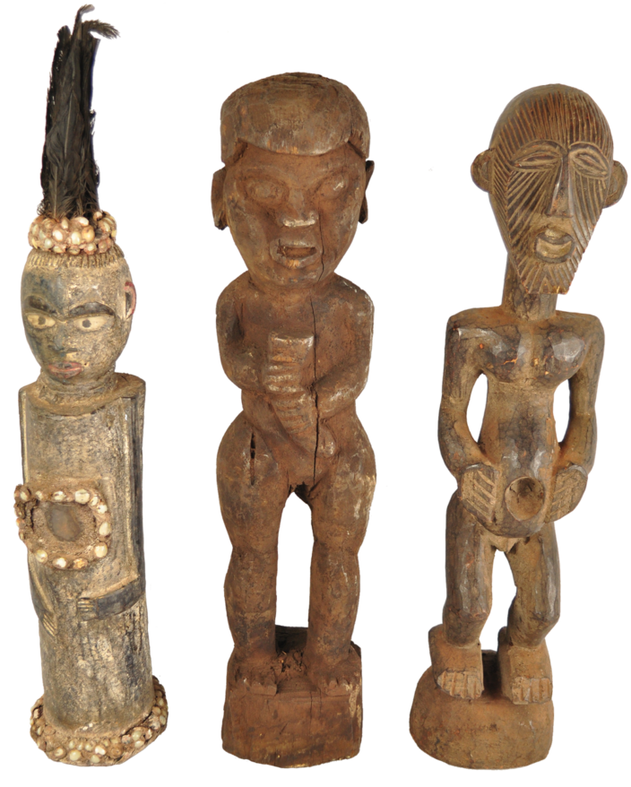 Old Tribal African Wooden Figures - Vintage Whatnots