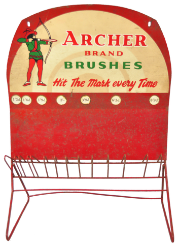 Old Archer Brand Brushes - Shop Display Stand - Vintage Whatnots