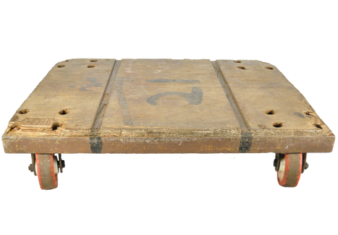 Old Mill Trolley - Coffee Table - Vintage Whatnots
