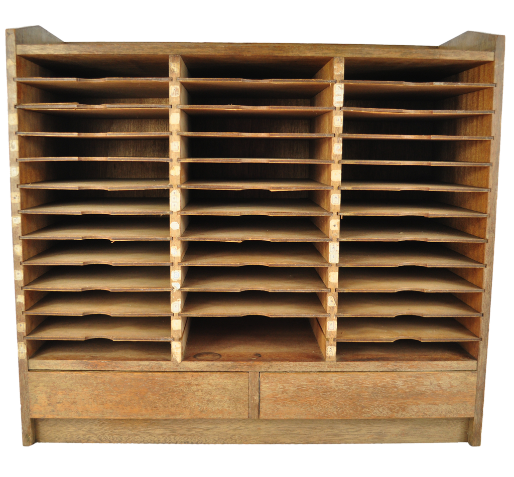 Old Japanese Pigeon Hole Cupboard - Vintage Whatnots