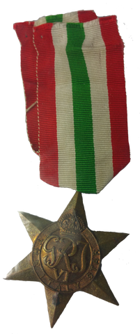 Original WWII Italy Star - Vintage Whatnots