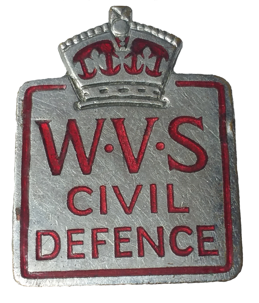 WVS Women's Voluntary Service enamel badge - Vintage Whatnots