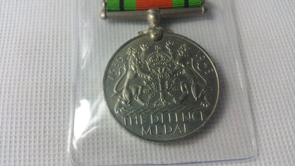 Original Full Size WWII Defence Medal - Unnamed