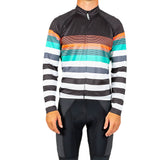 M's Barbour Stripe Century LS Jersey-BLACK