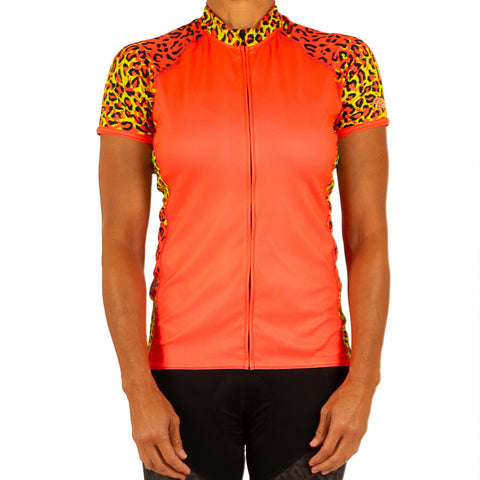 W's Leopard Dream Short Sleeve Jersey
