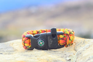 Paracord Survival Bracelet - Flame