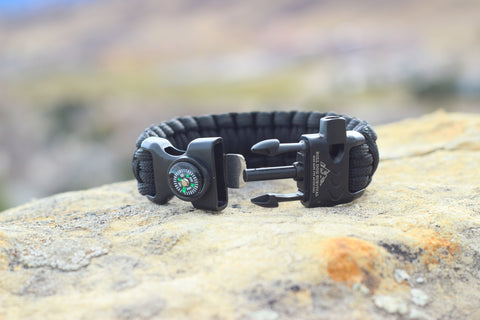 Paracord Survival Bracelet - Eclipse