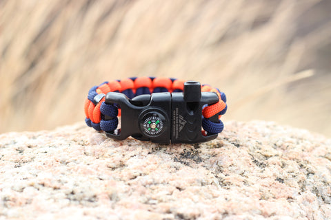 Paracord Survival Bracelet - Denver Bronco
