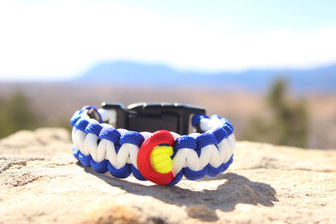 Paracord Survival Bracelet - Colorado