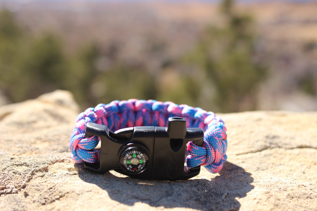 Cotton Candy Skies Survival Bracelet