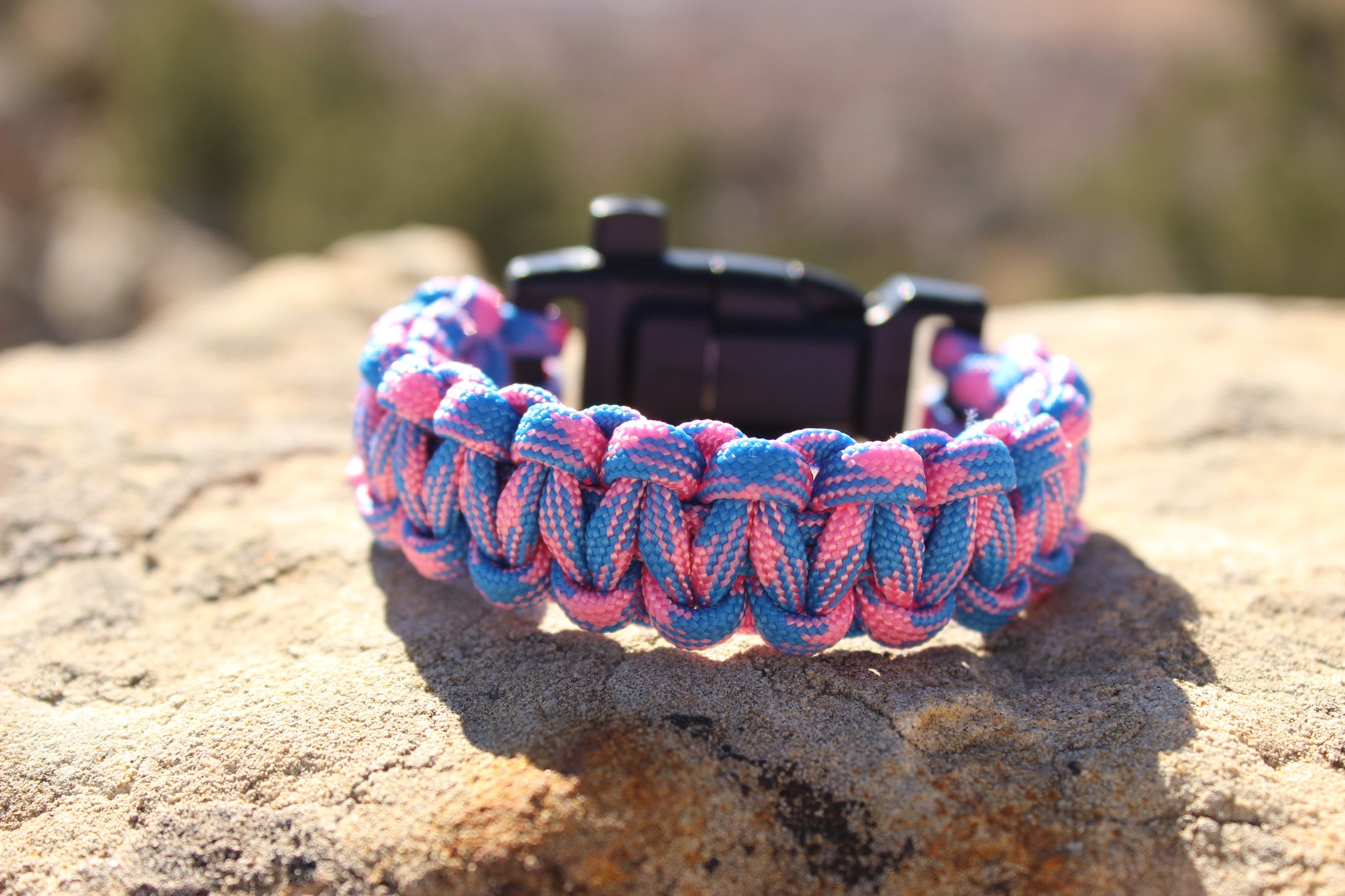 Paracord Survival Bracelet - Cotton Candy Skies