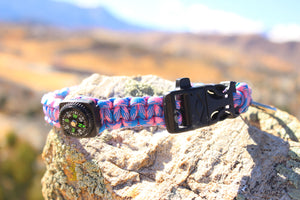 Paracord Survival Collar -Cotton Candy Skies