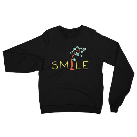Smile Unisex California Fleece Raglan Sweatshirt