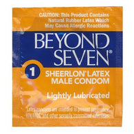 Beyond Seven Sheerlon lightly lubricated (8 single condoms) - Special Clearance! Lot Exp Jan 2019