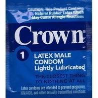 Crown Lightly Lubricated (48 single condoms) - Lot Exp 2021