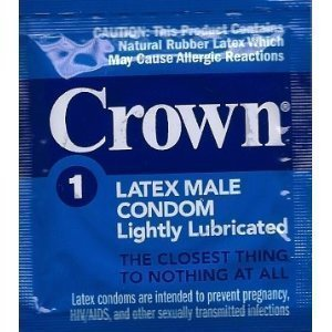 Crown Lightly Lubricated (96 single condoms) - Lot Exp 10/2021