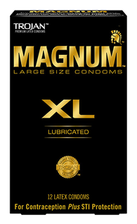 Trojan Magnum XL Lubricated (Retail pack of 12) Clearance Lot Exp Jul 2019